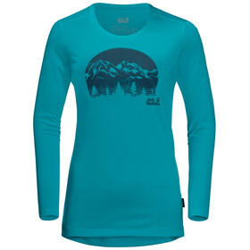 Jack Wolfskin Crosstrail Graphic LS Shirt Women, dark cyan